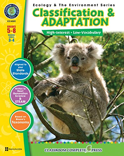 9781553193678: Classification & Adaptation Gr. 5-8 (Ecology & the Environment) - Classroom Complete Press