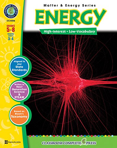 9781553193722: Energy Gr. 5-8 (Matter & Energy) - Classroom Complete Press