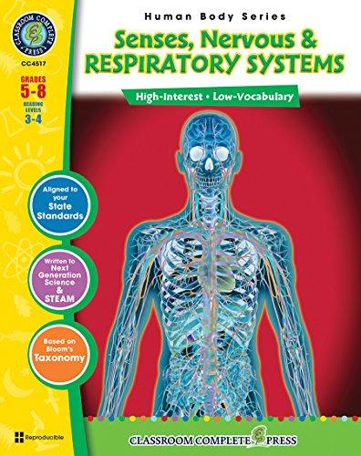 9781553193791: Senses, Nervous & Respiratory Systems Gr. 5-8 (Human Body) - Classroom Complete Press