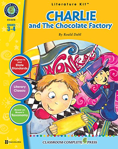 9781553194507: Charlie and the Chocolate Factory, Grades 3-4 [With 3 Overhead Transparencies] (Literature Kit)