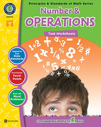 Number & Operations - Task Sheets Gr. 6-8 (Principles & Standards of Math) - Classroom ...