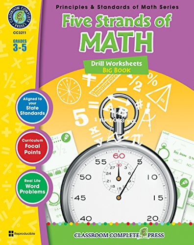 9781553195276: Five Strands of Math - Drills Bundle Gr. 3-5 (Principles & Standards of Math) - Classroom Complete Press