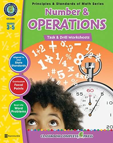 9781553195399: Number & Operations: Task & Drill Sheets, Grades 3-5 (Principles & Standards of Math)