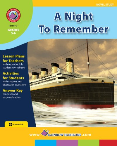 9781553195610: A Night to Remember (Novel Study)