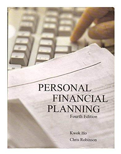 9781553220930: Personal Financial Planning