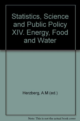 Statistics, Science and Public Policy XIV. Energy,: Herzberg, A.M (ed.)