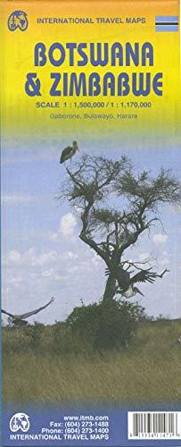 9781553411475: 1. Botswana & Zimbabwe Travel Reference Map 1:1,5M/1:1,1M (International Travel Maps)