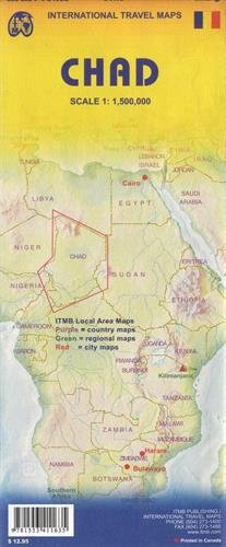 Chad Travel Reference Map1 : 1 500 000