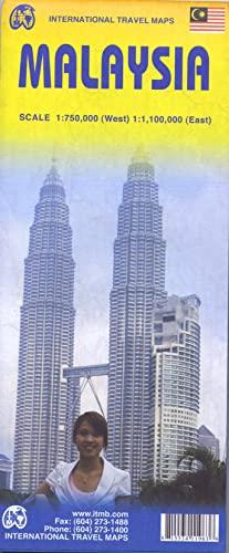 9781553411963: Malaysia Map 1:750,000West 1:1,100,000East (International Travel Maps)