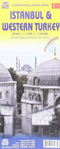 Istanbul & Western Turkey 1:11 000/1,100,000 Include inset fo Istanbul Regional & ...