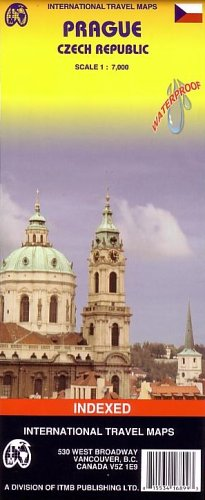 9781553416890: 1. Prague (Czech Rep.) ITM City Map, waterproof 1:7,000 (International Travel Maps) (English and Czech Edition)