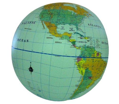 "Inflatable 16"" Political Globe- Blue Ocean: ITMB Publishing LTD"