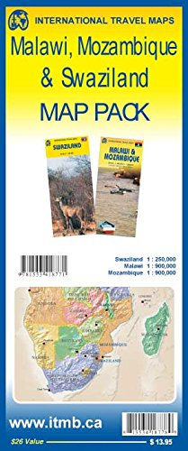 9781553418771: Map Pack - Malawi, Mozambique & Swaziland
