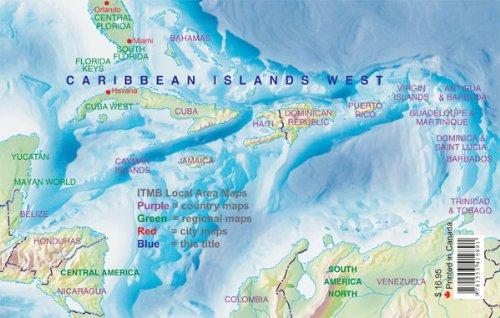 9781553419891: Caribbean Island West: International Travel Maps