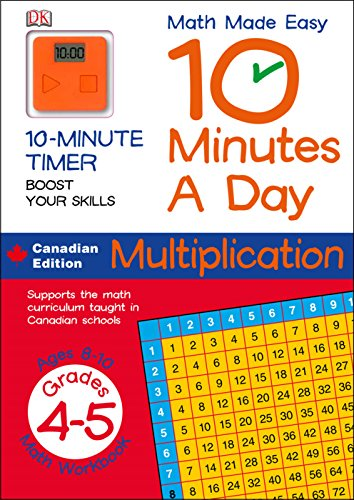 9781553632313: Math Made Easy 10 Minutes A Day Multiplication Grade 4-5