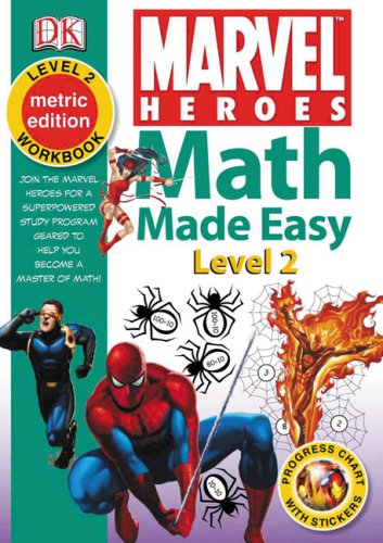 9781553637325: Math Made Easy Marvel Heroes Level 2