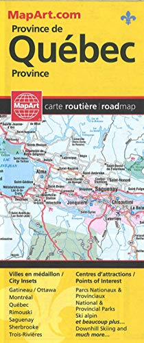 9781553683971: Quebec Province Road Map (English and French Edition)