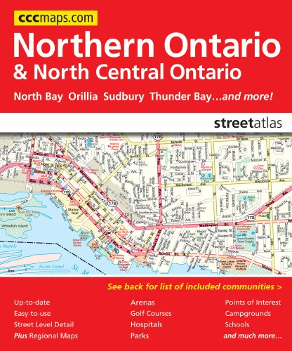 9781553684626: Northern Ontario and North Central Ontario Street Atlas