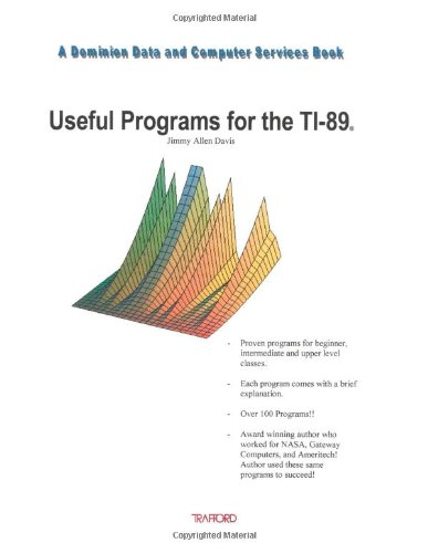 9781553697817: Useful Programs for the Ti-89