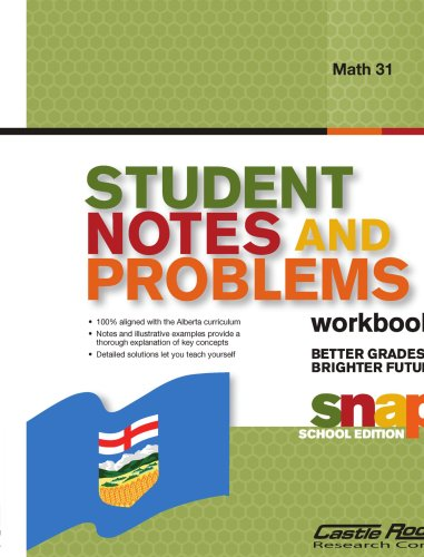 9781553714941: Student Notes and Problems Math 31