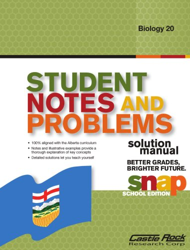 9781553716969: Student Notes and Problems Solution Manual Biology 20