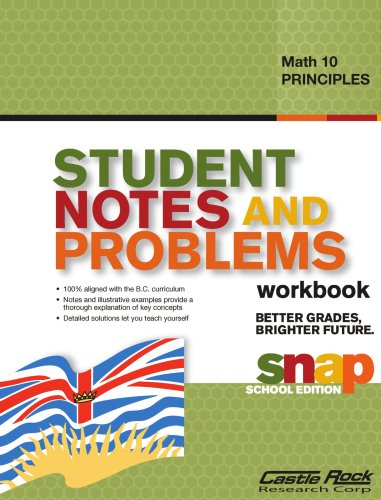 9781553717584: Student Notes and Problems Principles of Math 10