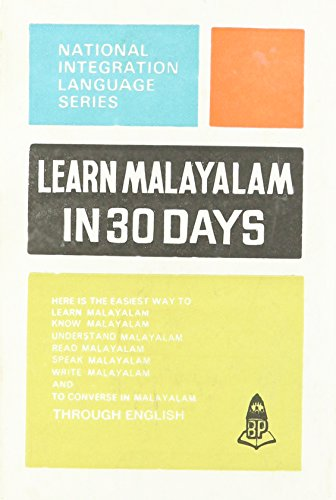 Learn Malayalam in 30 Days, 25th Edition: Amma, C.L. Meenakshi
