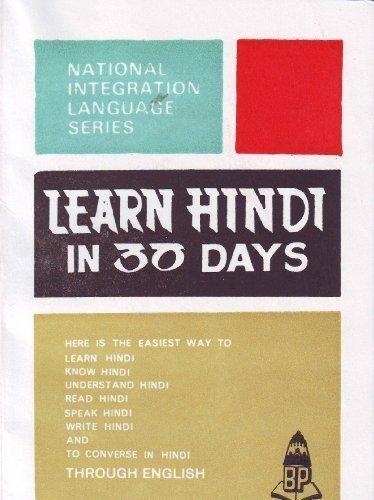 Learn Hindi in 30 Days: Srinivasachari, K.
