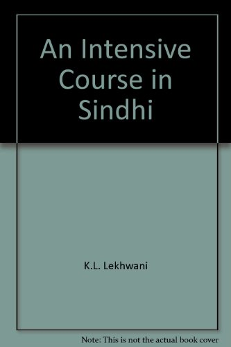 An Intensive Course in Sindhi: K.L. Lekhwani