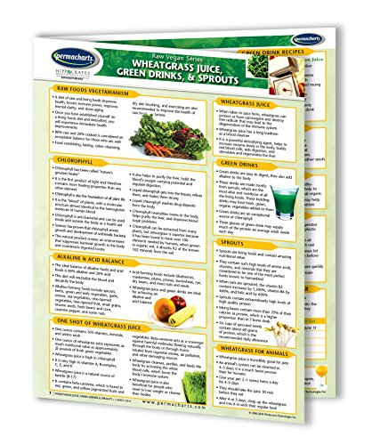 9781554311330: Wheatgrass Juice, Green Drinks & Sprouts: 4 Page Bi-Fold Laminated Reference Cards - Learn Tips, Tri