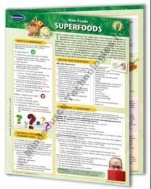 9781554311361: Raw Food Superfoods: 4 Page Bi-Fold Laminated Reference Cards - Learn Living Food Tips, Tricks & Veg