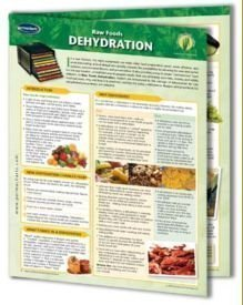 Raw Food Dehydration: 4 Page Bi-Fold Laminated Reference Cards - Learn Tips, Tricks & Recipes ...