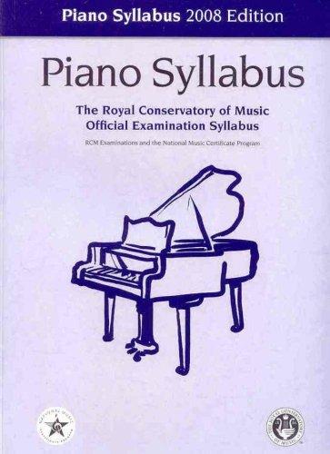9781554401963: Piano Syllabus 2008 Edition (The Royal Conservatory of Music Official Examination Syllabus)