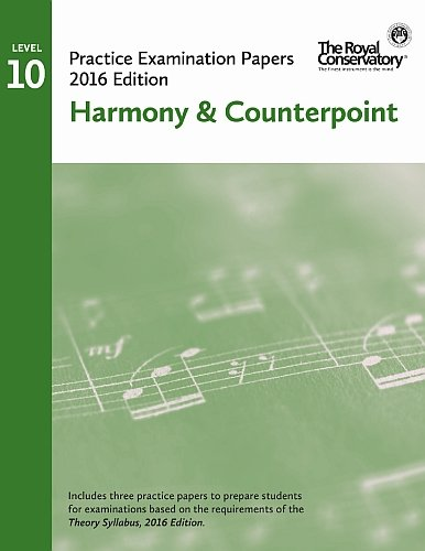 9781554408276: EX1606 - Official Examination Papers: Level 10 Harmony & Counterpoint 2016 edition