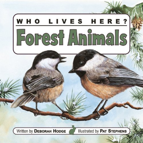 9781554530717: Who Lives Here? Forest Animals