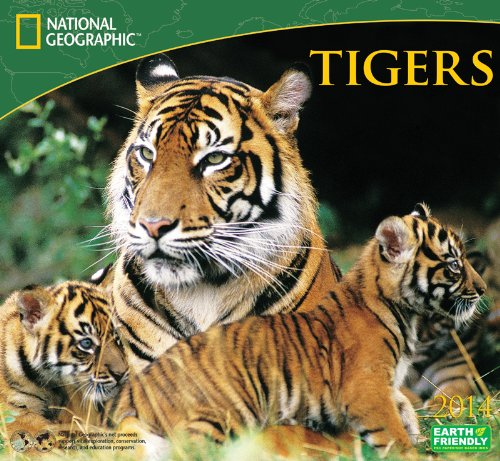 9781554566440: 2014 National Geographic Tigers Deluxe Wall