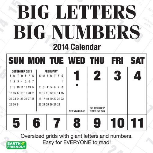 9781554566662: 2014 Big Letters Big Numbers Wall