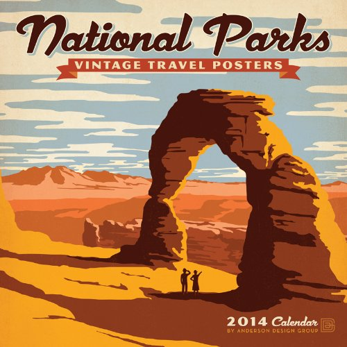 9781554566877: 2014 National Parks - Vintage Posters Wall