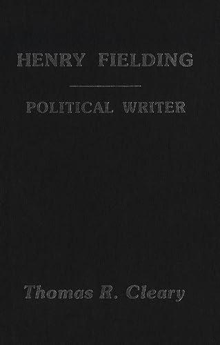 9781554584543: Henry Fielding: A Political Writer
