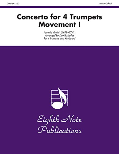 9781554722082: Concerto for 4 Trumpets (Movement I): Score & Parts (Eighth Note Publications)