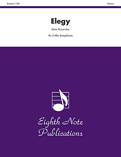 Elegy Format: Score & Parts: By Kevin Kaisershot
