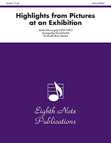9781554724550: Highlights (from Pictures at an Exhibition): Score & Parts (Eighth Note Publications)