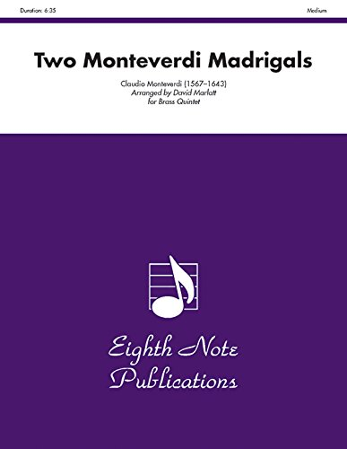 9781554731114: Two Monteverdi Madrigals: Score & Parts (Eighth Note Publications)
