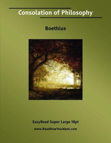 Consolation of Philosophy: Boethius