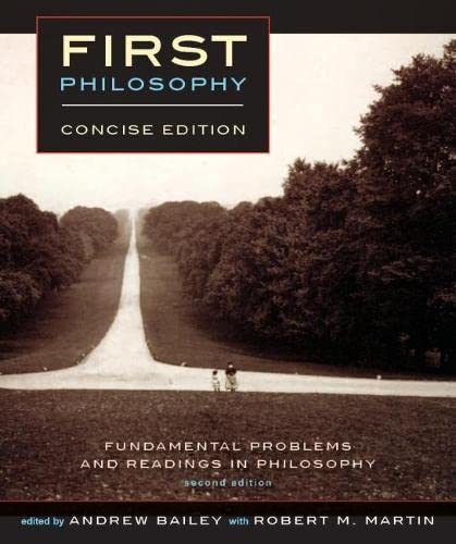 9781554810574: First Philosophy: Fundamental Problems and Readings in Philosophy, Concise Edition