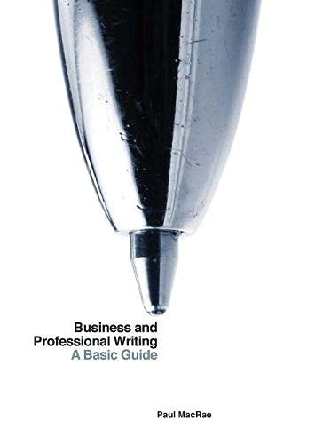 9781554812202: Business and Professional Writing: A Basic Guide