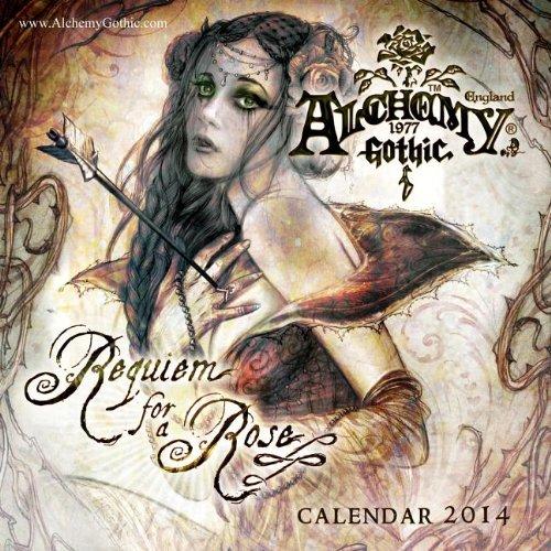 9781554842728: Alchemy Gothic: Requiem for a Rose 2014 Wall Calendar