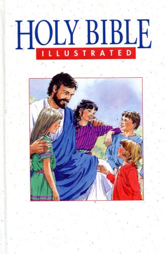 Bible Illustrated/Picture of Jesus Cover