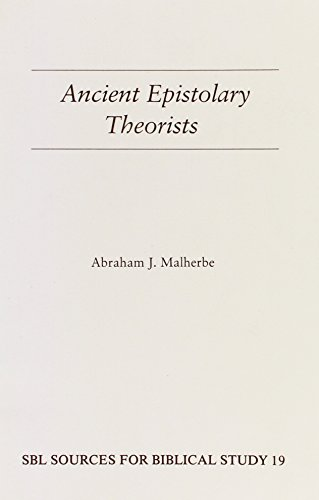 9781555402471: Ancient Epistolary Theorists (Sources for Biblical Study)