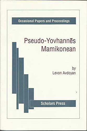 Pseudo-Yovhannes Mamikonean: Avdoyan L.,